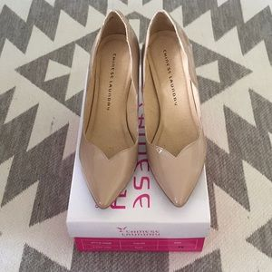 Chinese Laundry, Z-Star Turn Patent Nude Heels, 9M